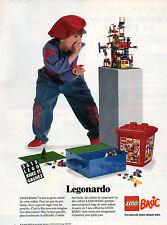 Publicité 1991  Legonardo   jouets enfants  LEGO BASIC