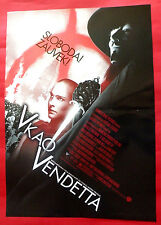 V FOR VENDETTA 2005  HUGO WEAVING NATALIE PORTMAN UNIQUE SERBIAN MOVIE POSTER