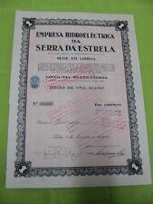 Hydroelectric company Serra da Estrela 1948 - one share certified