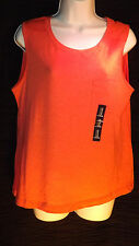 [B3] New NWT Gap Women's Orange Sleeveless Pocket Muscle Tank Coral size XL