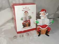 "HALLMARK KEEPSAKE SANTA CLAUS ORNAMENT ""I'VE BEEN EVERYWHERE"" W/SOUND NEW 2013"
