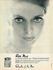 PUBLICITE ADVERTISING 124  1963  CHARLES OF THE RITZ  cosmétiques  TRANSLUMINANT