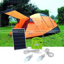 Portable Outdoor 10W Solar Power System Light Battery Camping Fishing Charger