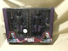 Planet Of The Apes Action Figure Gorilla Soldier Infantry 2014 NECA Reel Toys 7""