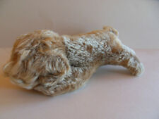 Steiff dog  floppy dog  sleeping  with button  mohair made in Germany 192
