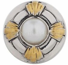 Silver Gold White Pearl 20mm Snap Charm Interchangeable For Ginger Snaps Jewelry