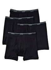 Jockey Men's Boxer Briefs Low Rise Medium 32-34 4 Pack Black Cotton New w Tags