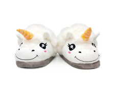 Fantasy Plush Pantofola Bianco Unicorn Slip On Misura Adulto Inverno Indoor