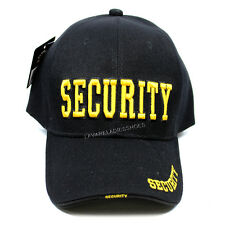 SECURITY Baseball Cap US Law Enforcement Adjustable Hat Ball Cap - Black/Yellow