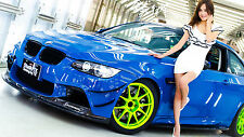 """Poster 24"""" x 16"""" Girl and BMW Tuning"""