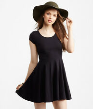 Aeropostale Lace Inset Fit & Flare Dress Black Small