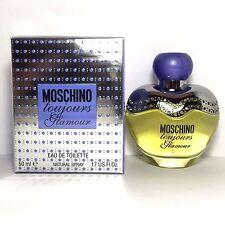 MOSCHINO TOUJOURS GLAMOUR Eau De Toilette Spray FOR WOMEN 1.7 Oz / 50 ml NEW !!!
