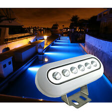 1*12W Blue High Intensity Underwater Yacht Boat Fish Marine LED Light IP68