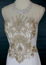 Jovani 89983 Pageant Size 6 Ivory Long Gown Evening Prom Solid $530 Sleeveless