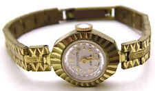 """Vintage 6.5"""" SERENITY Wind-Up Watch Small Ladies Gold Tone UNSURE IF IT WORKS"""