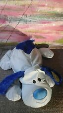 NWT DOG puppy lovey Idea Nuova Blue Microfiber Microbead Comfort Cushion PLUSH