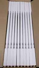 "40 Wood Stair Spindles White 34"" 1 1/4"" SQUARE TOP BALUSTER L J SMITH  LJ-5141"