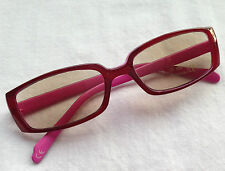 +2.50 PINK Plastic Frame Tinted Reading Glasses +2.5 Ready Readers Sunglasses