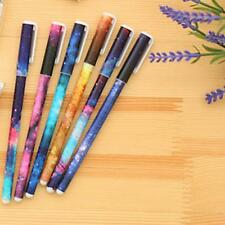 6 Pcs 0.38mm Starry Watercolor Gel Pen Students Office Writting Stationery NEW