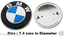 324- BMW LOGO MONOGRAM EMBLEM BADGE REAR BOOT BACK DICKY TRUNK 7.4cm 3 5 series
