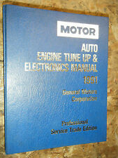 1988-91 MOTOR AUTO TUNE UP ELECTRONICS SERVICE MANUAL CADILLAC CHEVY BUICK OLDS