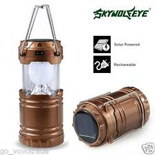 LED Portable USB Solar Rechargeable Lantern Outdoor Camping Hiking Lamp Light