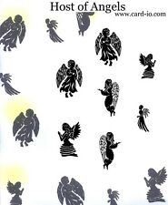 Card-io COMBINATIONS COLLECTION 7 Clear Stamps HOST OF ANGELS  MAHO-02