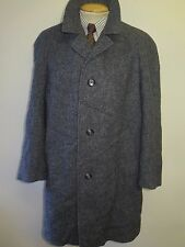 "Genuine Harris Tweed Grey Coat Size L 42""  Regular Euro 52"