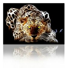 "Canvas Wall Art Prints Leopard Painting Animal Picture Framed Decor 24"" x 36"""