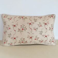 "NEW Kate Forman Sprig Linen Fabric 20""x12"" Piped or Pom Pom Cushion Cover"