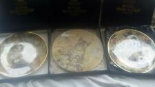 SET OF 3 ROYAL WORCESTER THE HAMILTON COLLECTION CAT/KITTEN PLATES IN BOXES