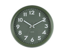 karlsson Badge Retro Modern Kitchen Home Office Decor Wall Clock,38cm Green