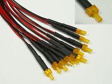 S606 - 10 Stück LED 2mm orange mit Kabel für 12-19V fertig verkabelt Tower LEDs