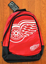 Detroit Red Wings BackPack / Back Pack Book Bag NEW NHL - TEAM COLORS BIG LOGO