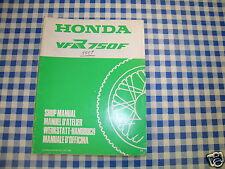 BB 66ML700Z Manuale Officina Supplemento HONDA VFR 750 F H Edizione 1987