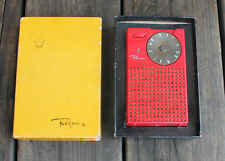 Antique Vintage NICE 1950s Regency TR-1 Red Transistor Radio & Box