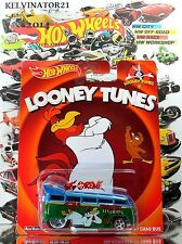 Hot Wheels 2014 POP CULTURE - LOONEY TUNES Volkswagen T1 Drag Bus BLUE+GREEN,NEW