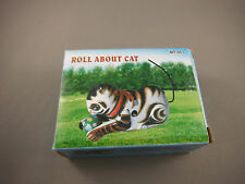 Wind Up Tin Toy -  Roll Over Cat