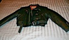 Ladies Creeks Outdoor Clothing Custom made Leather Motorcycle Jacket Size Small