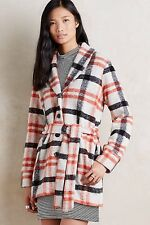 NWT SZ S HETTY COAT BY CARTONNIER ADORABLE PLAID JACKET!