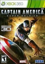 Captain America: Super Soldier Xbox 360 game complete Marvel Free Shipping