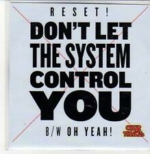 (DC678) Reset!, Don't Let the System Control You - DJ CD