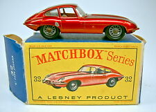 "Matchbox RW 32B Jaguar ""E"" Type metallicrot in ""D"" Box"
