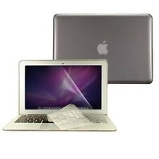 "3 in 1 Crystal GREY Hard Case for Macbook Air 13"" A1369 + Key Cover + LCD Screen"