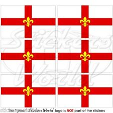 City of LINCOLN Flag, Lincolnshire UK Mobile Cell Phone Mini Stickers, Decals x6