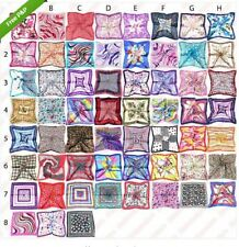 Women Big Square Silk-like Satin Large Scarf Wrap Printing shawl 50 x 50cm