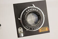 "6 3/8"" Focus Graflex Optar f/4.5 Lens W/ Graphex Shutter And Mounting Board"