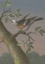 """perfect 24x36 oil painting handpainted on canvas """" a lovely bird """"@N5790"""