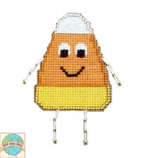 Cross Stitch Kit ~ Halloween Yummy Candy Corn Buddy #K005