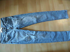 HOLLISTER coole helle skinny used destroyed Jeans Gr. 27/29 TOP SH316